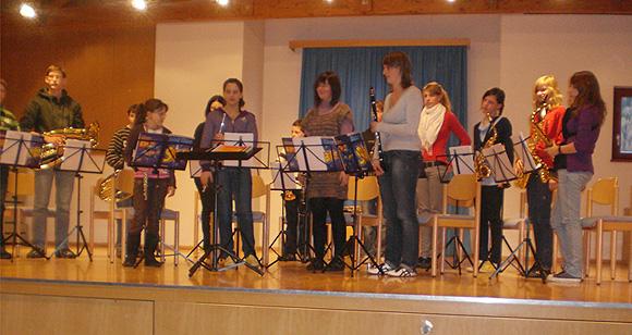 Die Jungmusikanten der Musikkapelle Innerpfitsch
