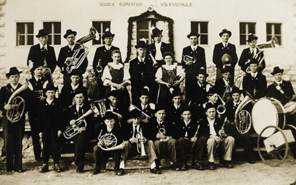 Die Musikkapelle Innerpfitsch um 1951