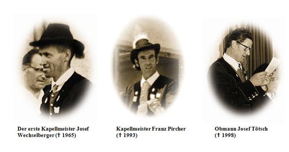 Die Obmänner der Musikkapelle Innerpfitsch